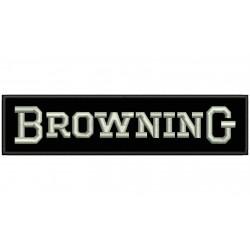 Parche Bordado BROWNING (Bordado PLATA / Fondo NEGRO)