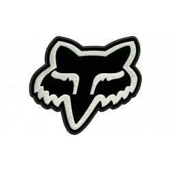 Parche Bordado FOX (Bordado BLANCO / Fondo NEGRO)