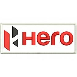 Parche Bordado  HERO MOTORCYCLES (Fondo BLANCO)