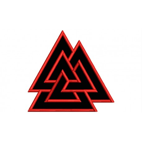 VALKNUT (NORDIC SIMBOLOGY) Embroidered Patch