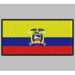 ECUADOR FLAG Embroidered Patch