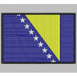 BOSNIA HERZEGOVINA FLAG Embroidered Patch