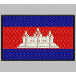 CAMBODIA FLAG Embroidered Patch