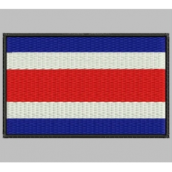 COSTA RICA FLAG Embroidered Patch