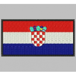CROATIA FLAG Embroidered Patch