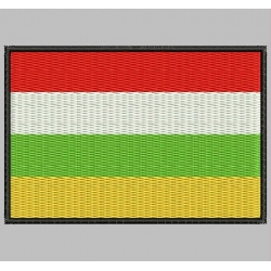 LA RIOJA FLAG Embroidered Patch