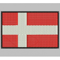 DENMARK FLAG Embroidered Patch