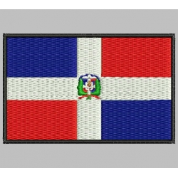 DOMINICAN REPUBLIC FLAG Embroidered Patch