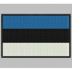 ESTONIAN REPUBLIC FLAG Embroidered Patch