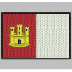 CASTILLA LA MANCHA FLAG Embroidered Patch