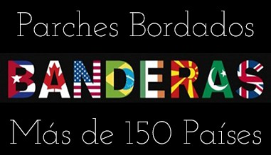 Parches Bordados Banderas